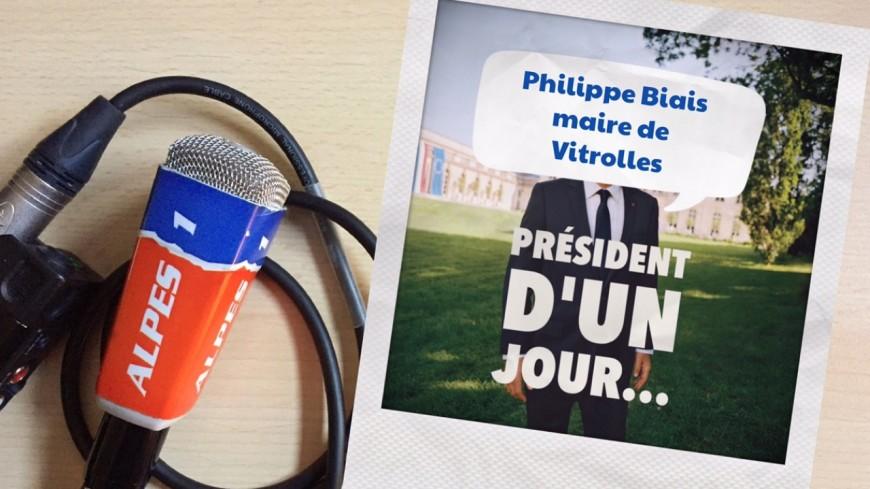 Hautes-Alpes : président d'un jour, le maire de Vitrolles, Philippe Biais