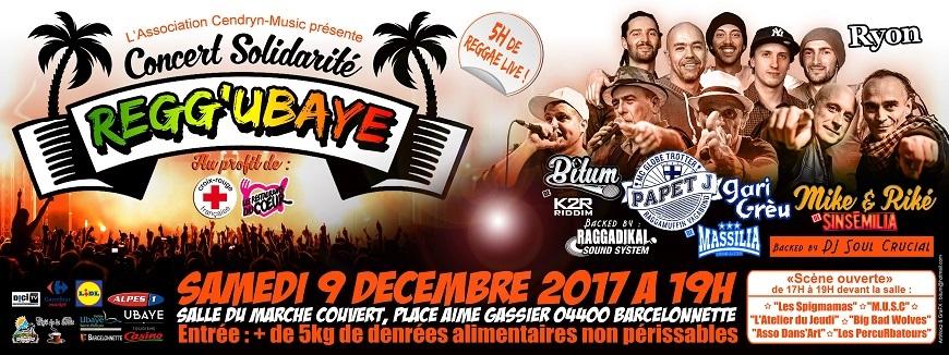 Alpes de Haute-Provence : Regg'Ubaye : concert solidaire à Barcelonnette samedi 9 décembre.