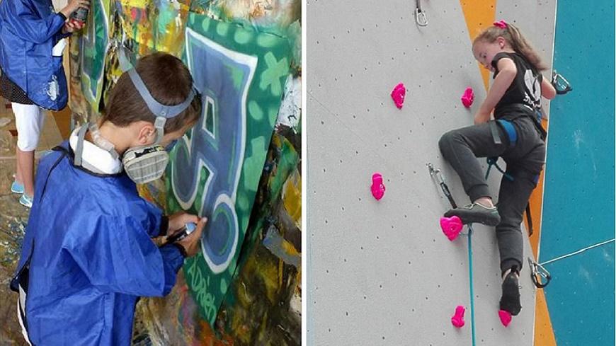 Hautes-Alpes : Stage escalade/graff pour les 11-13 ans pendant ces vacances de printemps à Briançon.
