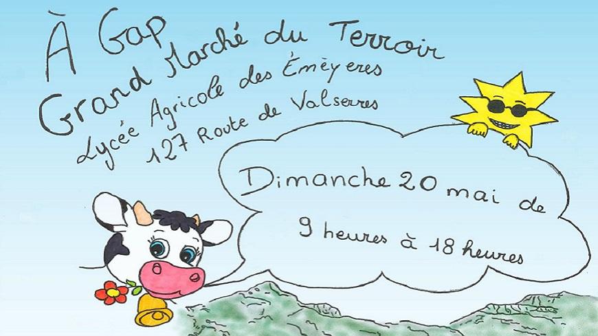 Hautes-Alpes : Grand marché du terroir au Lycée agricole Les Emeyères à Gap dimanche 20 mai de 9h à 18h.