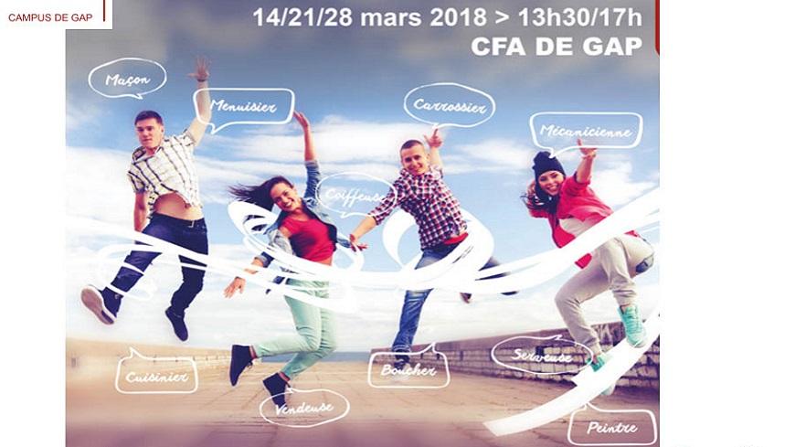 Hautes-Alpes : Journées portes-ouvertes ces mercredis 14, 21 et 28 mars au CFA de Gap et de Digne.