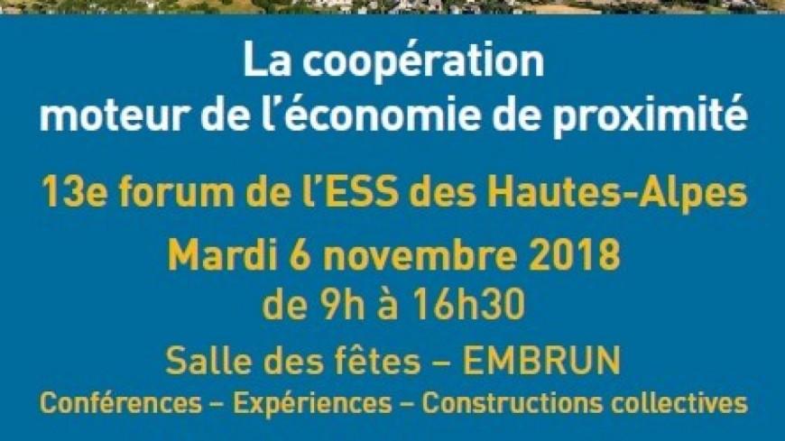 """""""Près de Chez Vous"""" à Embrun pour le Forum de l'Economie Sociale et Solidaire"""