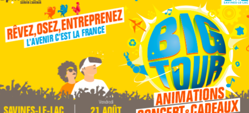 Hautes-Alpes : Le Big Tour – BPI France débarque à Savines-le-Lac cet été !