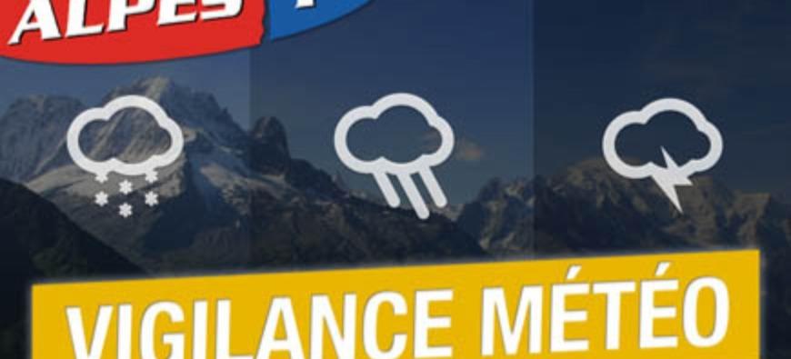 Alpes du Sud : vigilances jaune pluie-inondation, orages et avalanches