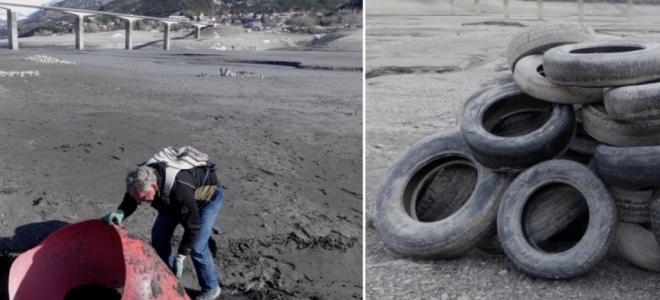 Hautes-Alpes : 12.000 litres de déchets ramassés par la LPO sur le lac de Serre-Ponçon